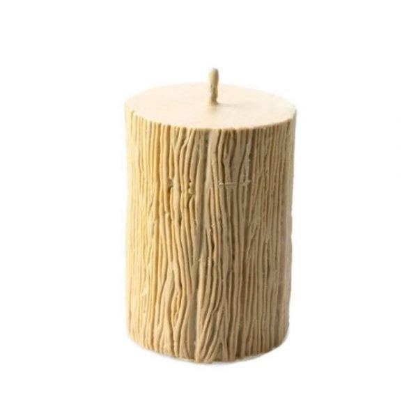 Log Pillar Candle