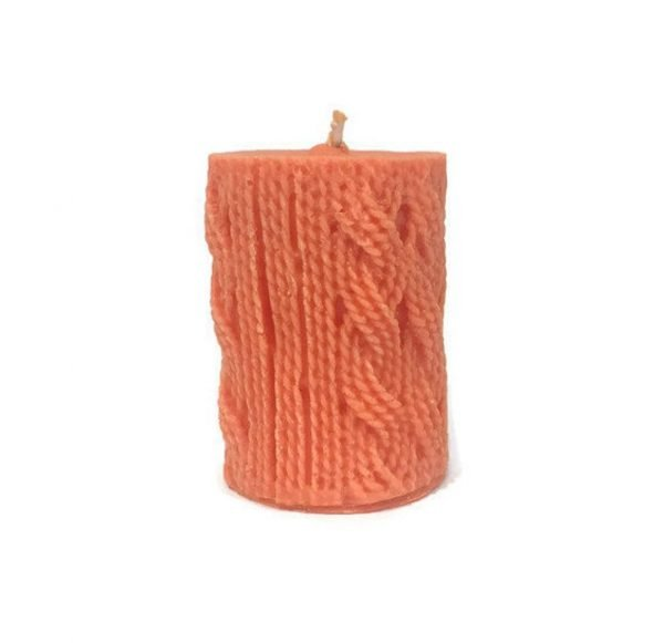 Wool Style Pillar Candle